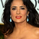 Salma Hayek wearing Martin Katz earrings at Golden Globe Awards 2013