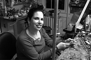 Enamelist Shana Kroiz, workshop coordinator, Maryland Institute of Art Jewelry Center